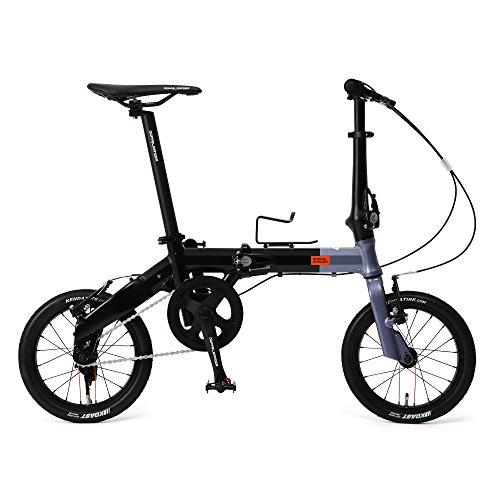 DOPPELGANGER(ドッペルギャンガー) 14インチ 折りたたみ自転車 Hakoveloシリーズ 超軽量アルミフレーム 7.7kg オーバーサイズ ロングシートポスト 採用 140-H-GY