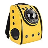 Aissimio <span class='highlight'>Pet</span> Backpack Travel <span class='highlight'><span class='highlight'>Bag</span></span> for <span class='highlight'>Cat</span> Space Soft PU Surface Breathable Mesh Window <span class='highlight'>Pet</span> Carriers Outdoor for <span class='highlight'>Cat</span> and Puppy yellow