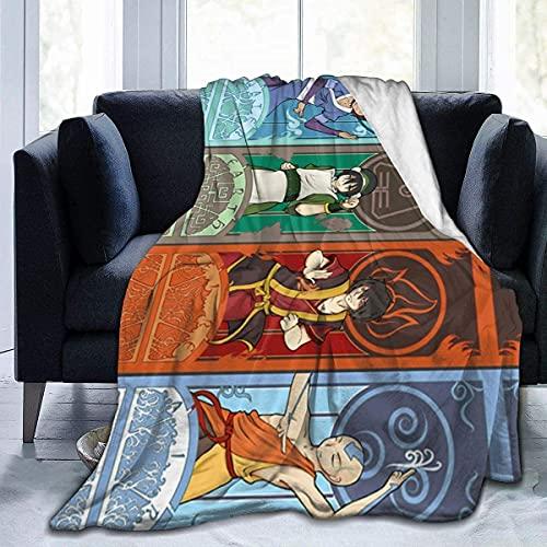 YRHAIR A-vat-AR - Manta de franela para niños, diseño de dibujos animados, para niños, para bebés, para niños, para regalo de cumpleaños (A02,135 x 100 cm)