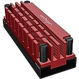 Archgon M.2 2280 PCIe NVMe SSD対応 専用放熱 アルミ合金製 ヒートシンク パッド サーマル パッド付き 冷却ヒートシンク HS-1110-R (赤)
