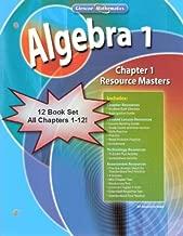 Glencoe Mathematics Algebra 1 Chapter Resource Masters Package Set/Lot Chapters 1-12