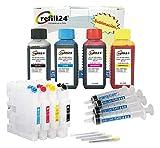 Kit de Recarga para sublimacion Compatible para Ricoh GC41, GC41K, GC41C, GC41M, GC41Y Negro y Color + Cartuchos Recargables y Accesorios