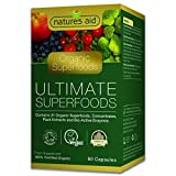 Natures Aid Organic Ultimate Superfoods Complex, 60 Capsules (31 Organic Superfoods and Enzymes, Soil...