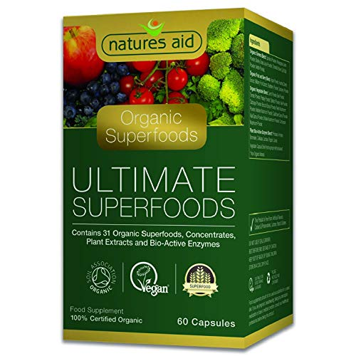 Natures Aid Organic Ultimate Superfoods Complex, 60 Capsules
