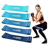 WOTEK Elastici Fitness, Bande di Resistenza Fitness con 5 Livelli di Resistenza per Fitness, Yoga,Crossfit, Squats,Allenamento di Forza , Riabilitazione Fisico e motore Elastico Bodybuilding