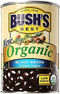 BUSH'S BEST Organic Beans, 15 Ounce Can ,Canned Beans,USDA Certified Organic, Source of Plant Based Protein and Fiber, Low...