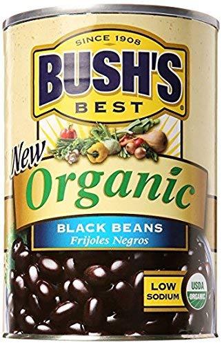 Bush's Best Baked Beans, Organic Black, 15 OZ (Pack of 12)