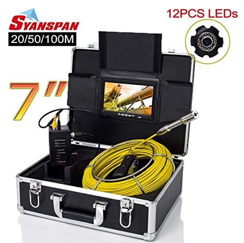 "Preisvergleich Produktbild WG 7""Monitor 20 / 50 / 100M Pipe Inspection Video Camera, IP68 HD 1000TVL Drain Sewer Pipeline Industrial Endoscope System, 100M"