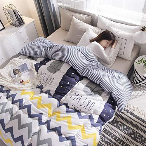 MRTYU-UY Edredón tamaño King, cálido, ligero, lavable, edredón suave, antibacteriano, microfibra, accesorio de cama, Au