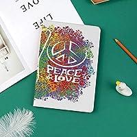 印刷者IPad Pro 11 ケースiPad Pro 11 カバー 軽量 薄型 PUレザー 三つ折スタンド オートスリープ機能 2018年秋発売のiPad Pro 11インチ専用ヒッピーの平和と愛のシンボルとサイン2本の指Antiwarカラフルな装飾
