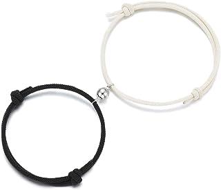 Tarsus Couples Bracelets Magnetic Mutual Attraction Relationship Matching Bracelet for Women Men Lovers Boyfriend Girlfrie...