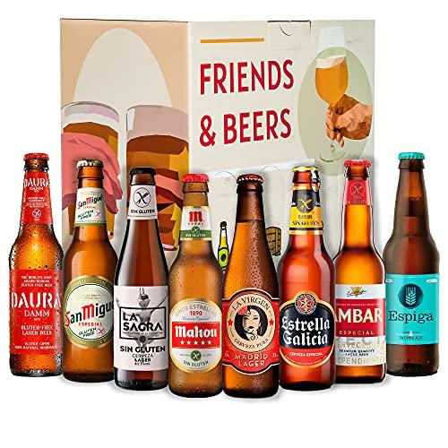 Pack de cervezas españolas sin gluten : Espiga, La Virgen, Estrella Galicia, Damm Daura, Ambar, Mahou, San Miguel I Ideas para regalar a celiacos
