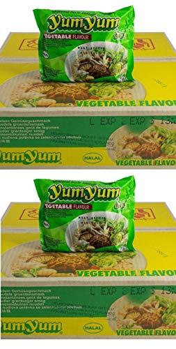 Pamai Pai® Doppelpack: 2 Kartons YumYum Gemüse Instant Nudelsuppen 60 x 60g Yum Yum Vegetable