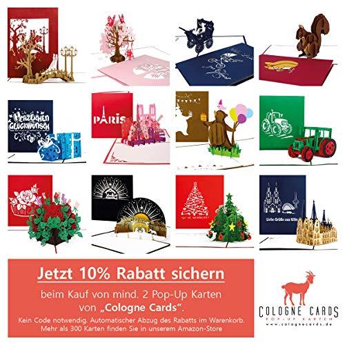 """Pop-Up Karte """"Theaterbühne"""" Theatergutschein, Einladung, Geburtstagskarte, edle goldene 3D Karte Theater - 2"""