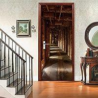 ウォールステッカー&壁画 廊下風景ドアステッカー3D壁紙ドアの壁画家の装飾