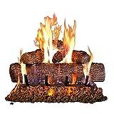 Peterson Real Fyre 18-inch Live Oak Log Set With Vented Burner, Match Light (Natural Gas Only)