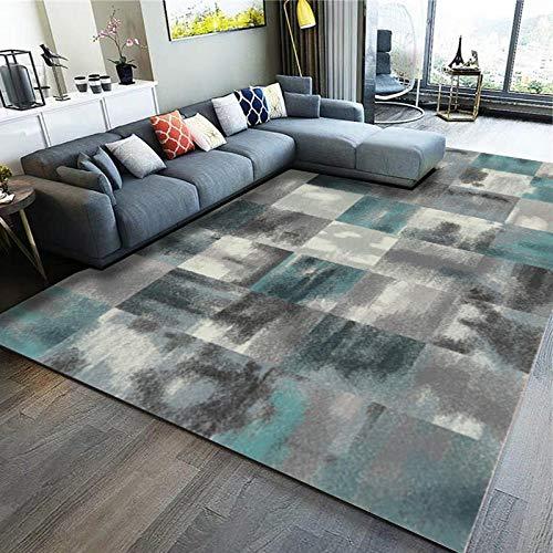 Alfombra de estilo moderno para sofá, salón, dormitorio, té verde, mantel para dormitorio, 2 x 3 metros