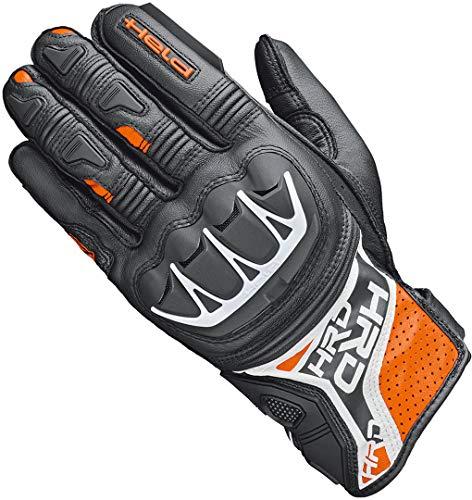 Held Motorradhandschuhe lang Motorrad Handschuh Kakuda Handschuh schwarz/orange 9, Herren, Sportler, Ganzjährig, Leder