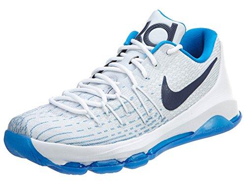 Nike Mens Kd 8 Sneaker, 9.5, White