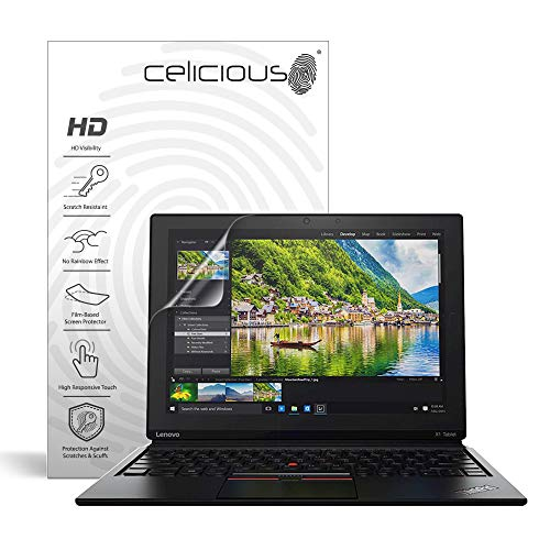 Celicious Pellicola Protettiva Vivid Trasparente per Lenovo ThinkPad X1 Tablet (2nd Gen) – [Confezione da 2]