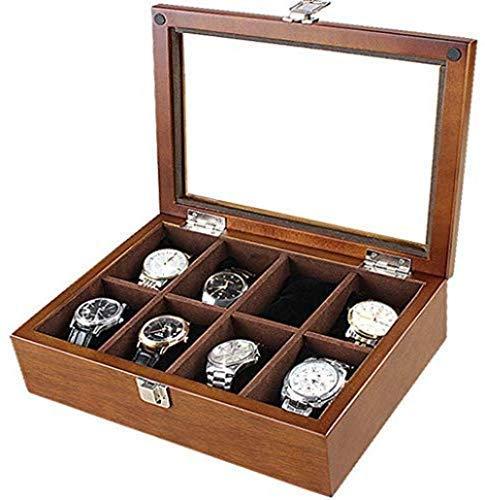 DGHJK Wooden Watch Box Armband Kollektion Samtgürtel Tischtasche Display Schmucketui Organizer Halter High End Aufbewahrungsbox