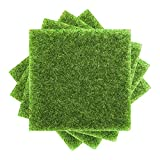 BALLYE 5pcs 30cm stuoia di Erba Verde Prato Artificiale tappeti Tappeto erboso Falso zolla Giardino Muschio per la Decorazione di Nozze Pavimento di casa