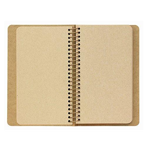 Green spiral ring notebook <A6surimu> Mukei desert camel pattern (japan import) Photo #3
