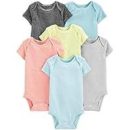 Simple Joys by Carter's unisex-baby 6-pack Short-sleeve Bodysuit Bodysuit