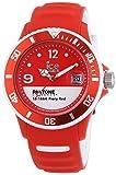 ICE-Watch - PAN.BC.FIR.U.S.13 - Pantone Universe - Fiery Red - Montre Mixte - Quartz Analogique - Cadran Rouge - Bracelet Silicone Rouge