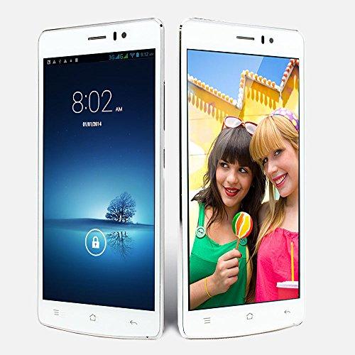 Indigi® - Teléfono móvil inteligente con doble cámara para smartphone (multitáctil) y 3G Android 4.4 DualCore (Sim Free)