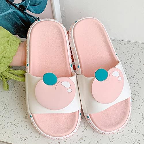Chanclas Mujer Verano 2019,Las Mujeres Usan Sandalias y Zapatillas en Verano, baños de celebridades de la Red Interiores de Moda, Zapatillas de Playa Lindas con Solas Gruesas Antideslizantes para el