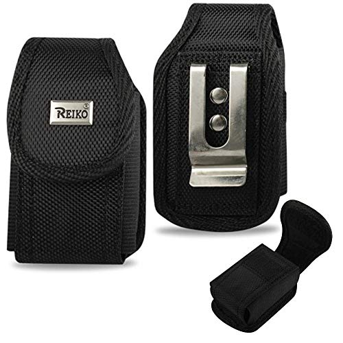 Vertical Canvas Case with Belt Clip and Belt Loop for Alcatel MyFlip 2 (A406DL) Flip Phone