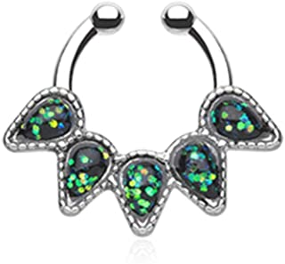 BodySparkle Body Jewelry Dangle Elephant Industrial Barbell 16g-14g Animal Industrial Earring-Custom Lengths