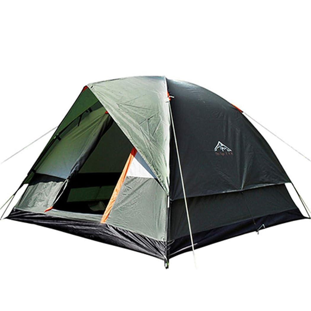 読者魅力価値3-4人防風キャンプのテントデュアルレイヤー防水ポップアップアウトドアハイキングビーチの旅行のためのオープンアンチUV観光テント