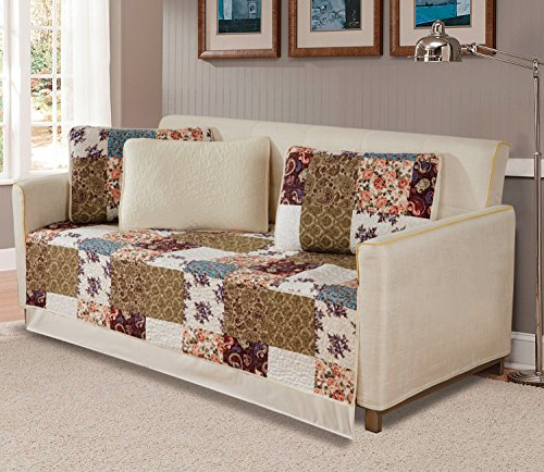 Fancy Collection 5pc Day Bed Quilted Coverlet Daybed Set New (Milano)
