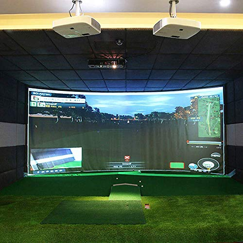 aikeec 118'X118' Golf Ball Training Simulator Impact Display Projecter Screen Indoor 300X300cm