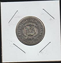 1989 DO National Arms Above Date 25 Centavos Choice About Uncirculated Details