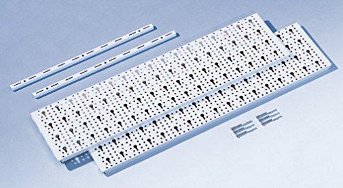Element System Werkzeugwand aus Metall, Heimwerker-Grundset inklusive Schrauben und Dübel, Lochwand - 2