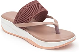 AROOM Zipper Synthetic Leather Casual Stylish Flats For Women And Girls, Flats For Women (PINK, numeric_5)