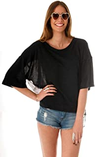 Hipster Eb1Cnl-L Blouse Top For Women - L, Black And Navy Blue