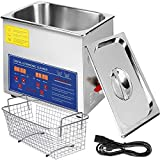 VEVOR Commercial Ultrasonic Cleaner 6L Heated Ultrasonic Cleaner with Digital Timer Jewelry Watch Glasses Cleaner Large Capacity Cleaner Solution (6L)