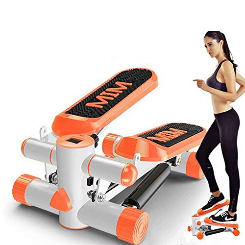 Mini Stepper, Mini Fitness Exercise Machine-Mini Elliptical voetpedaal Stepper, Step Trainer Equipment met Resistance Bands Duurzaam Veilige loopband en comfortabel voetpedalen QIANGQIANG