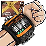 Gifts for Men on Fathers Day Dad Gifts from Wife Daughter Kid,Magnetic Wristband for Holding Screws, Birthday Men Gifts for Guys Dad Husband Boyfriend Grandpa Him Magnetic Tool Wristband (Black)