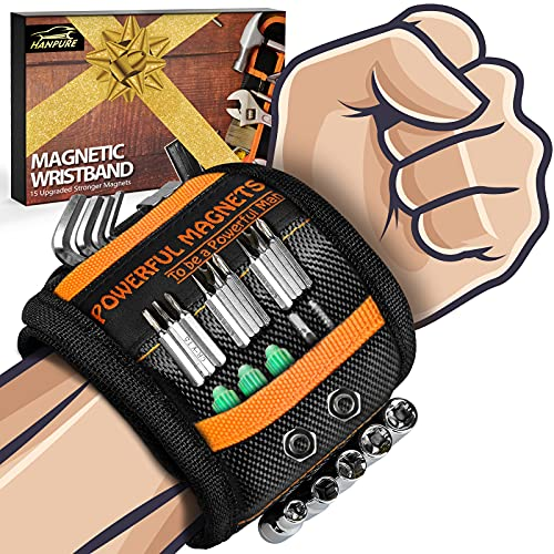 Magnetic Wristband for Holding Screws,Perfect Valentines Day Gifts for Him Gadgets Tools Men Magnetic Tool Wristband,Gifts for Husband Dad Father Teen Boyfriend Happy Valentines Day Gifts Idea for Men Women
