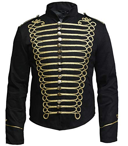 DARK REBELS Men Hussar Napoleonic Military Parade Jacket