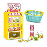 RVEE Interactive Vending Machine Toy Activity Toy for Toddlers Kids Early Educational Playset Drink Machine Shopping Game Toy,Gift for Boys Girls Over 3 Years Old