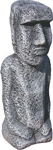 Moai de piedra color plata. 26 cm altura. 3 kg Figura para jardín