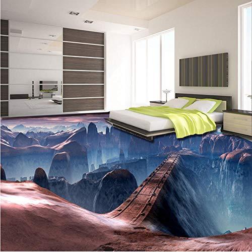 Wuyii Muursticker, zelfklevend, voor wanddecoratie, modern scene spel Bridge 3D tegels voor vloeren 150x120cm