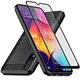 Muokctm Samsung Galaxy A50 Case, with Tempered Glass Screen...