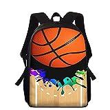 JIANGHINICE Sac à Dos pour Enfants Impression 3D Rugby Daypack Garçon Fille Sacs d'école Jeux de Balle Sac à Dos pour Enfants Sac à Dos décontracté Convient aux Enfants de 7 à 12 Ans C-15in
